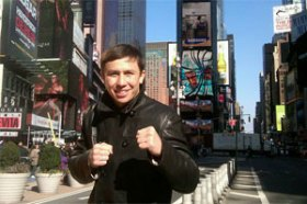 Golovkin absorbing the bright lights, big city